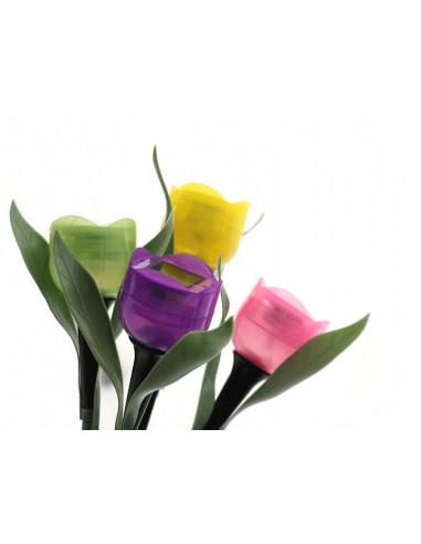 LAMPKA SOLARNA tulipan KWIAT SOLARNY...