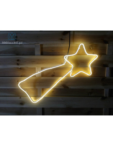 Figura kometa LED • 60x30 cm • Ciepła...