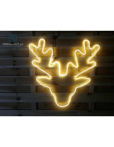Figura Głowa Renifera LED • 62 x 62...