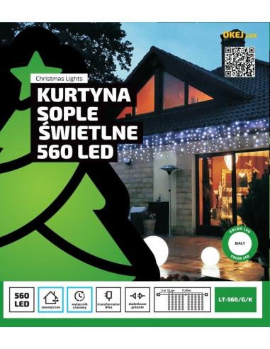 Kurtyna świetlna 12m x 0,5m • 560 LED...