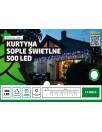 Kurtyna sople 500 LED 25 m, zewnętrzne lampki choinkowe od multimix