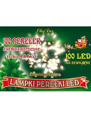 Sznur świetlny 10 m • 100 LED perełki...
