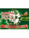 Sznur świetlny 10 m • 100 LED perełki • zewnętrzne lampki choinkowe NR 1774