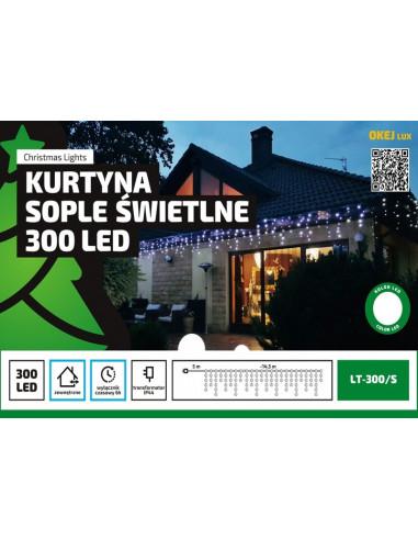 Kurtyna Sople LED 14,5 m • 300 LED •...