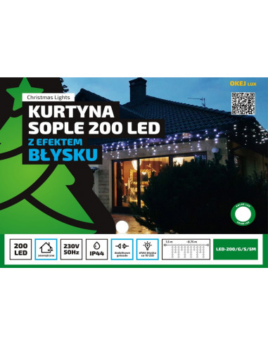 Kurtyna Sople LED 8,75 m • 200 LED •...