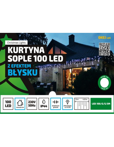 Kurtyna Sople LED 4,25 m • 100 LED •...