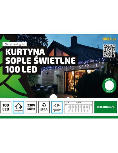 Kurtyna Sople LED 4,25 m • 100 LED •...