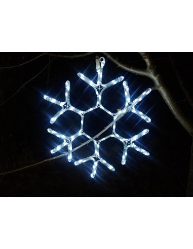 Figura śnieżynka zewnętrzne lampki choinkowe idealne na drzewa lub na elewacje budynku. Płatek śniegu