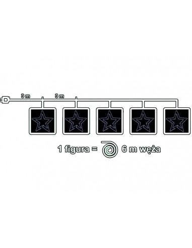 Komplet 5 figur Gwiazd LED o średnicy...