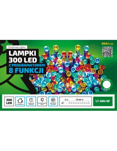 Sznur świetlny 30 m • 300 LED •...