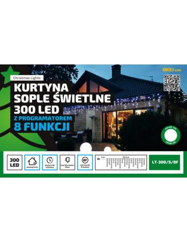 Kurtyna Sople LED 15 m • 300 LED •...